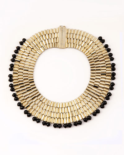 Cleopatra Beaded Collar Necklace