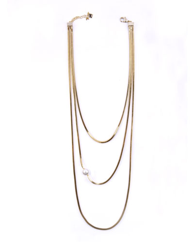 ROSANTICA Layered Snake Chain Necklace