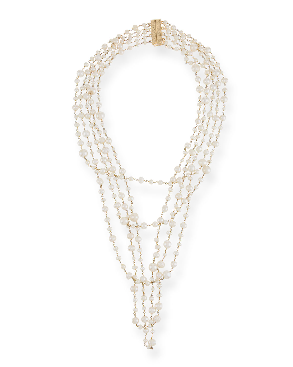 Pegaso Five-Strand Freshwater Pearl Necklace
