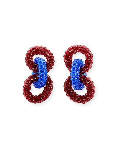 Beaded Three-Ring Earrings