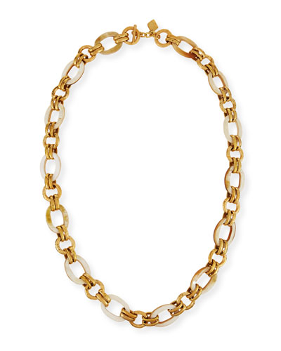 Ashley Pittman Shauri Light Horn Link Necklace tq42Adyo