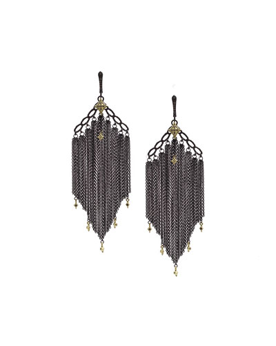 Old World Chain Tassel Earrings