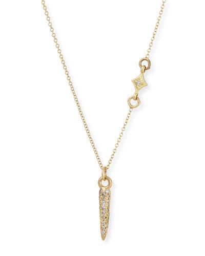Old World Sueno Petite Diamond Spike Necklace