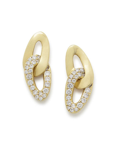 18K Cherish Interlaced Stud Earrings with Diamonds