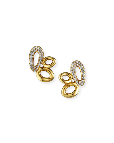 18K Cherish Cluster Earrings with Diamonds