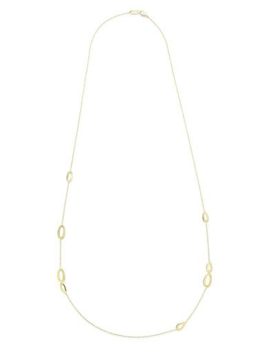18K Gold Cherish Station Necklace
