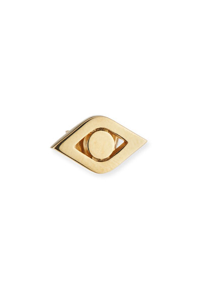 14k Medium Pure Eye Single Stud Earring
