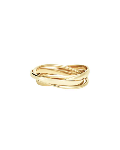 Lana Jewelry 14k Tricolor Gold Bubble Ring pUSiRt