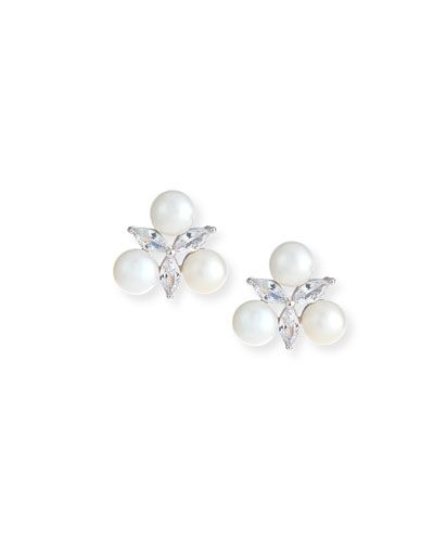 Monarch Pearly Cluster Earrings
