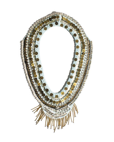 Layne Beaded Chiffon Scarf Necklace
