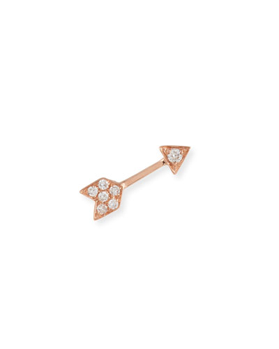 Mini Diamond Arrow Single Stud Earring