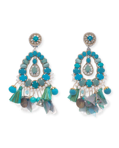 Lennox Beaded Statement Clip-On Earrings