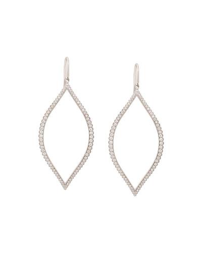 Diamond Marquis Leaf Drop Earrings