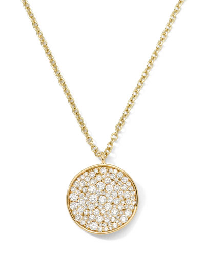Stardust 18k Diamond Disc Pendant Necklace