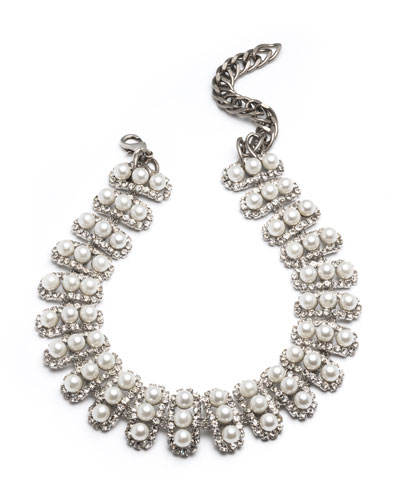 Roxie Pearly Choker Necklace