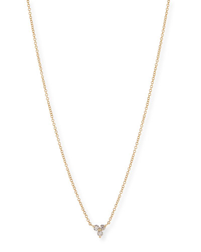 Diamond Trio Pendant Necklace