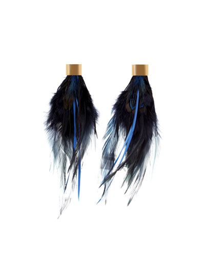 Polly Feather Statement Earrings
