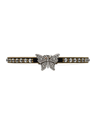 Crystal Butterfly Choker Necklace
