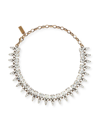 Arya Clear Crystal Statement Necklace