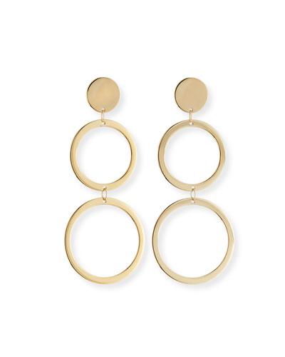 Fifteen 14k Double-Drop Earrings