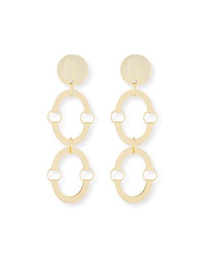 Golden Arch Clip-On Earrings