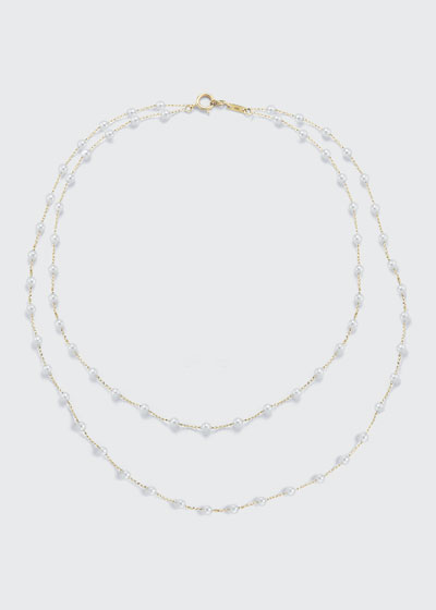 Two-Row Akoya Pearl Necklace, 38
