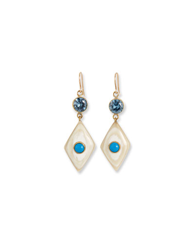 Ngome Diamond-Shaped Drop Earrings