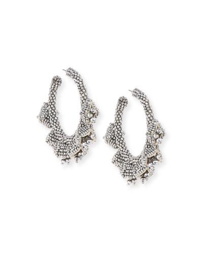 Grape Hoop Earrings