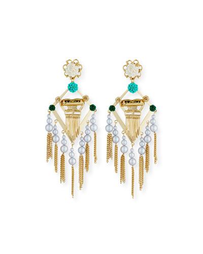King Statement Earrings