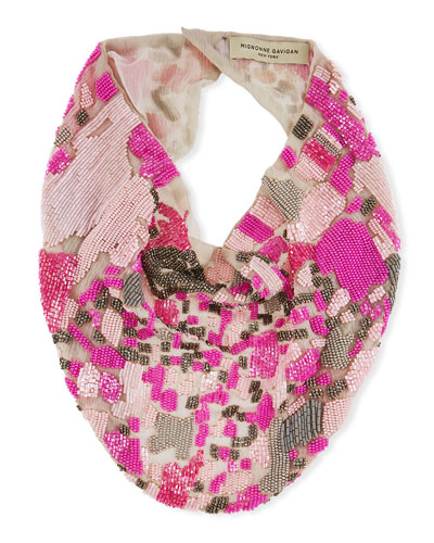 Danielle Beaded Scarf Necklace