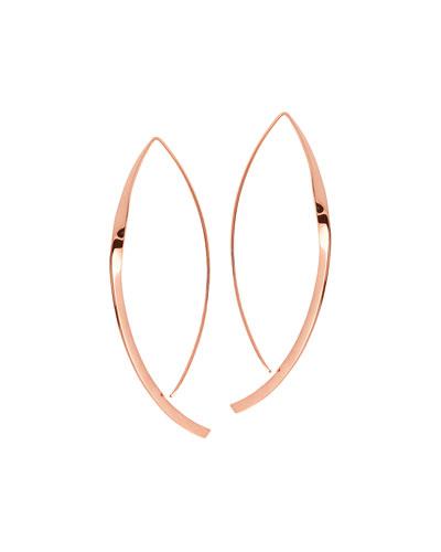 Small 14K Twist Arch Hoop Earrings