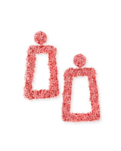 Fleur Dusk Clip-On Drop Earrings
