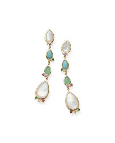 Prisma Mixed-Cut Earrings in Portofino