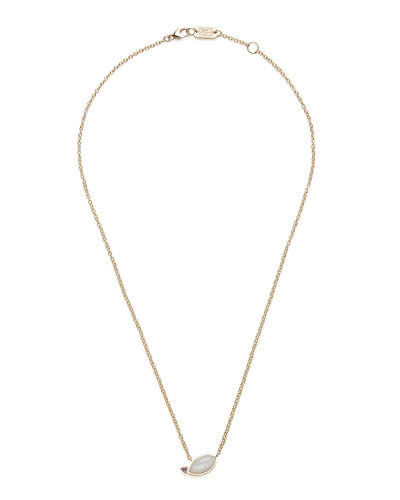 Prisma Angled Marquis Necklace in Mother-of-Pearl