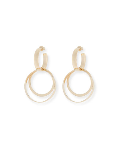 Alias 14k Small Curve Bond Hoop Earrings