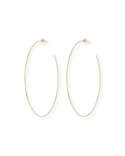 14k 80mm Wire Hoop Earrings