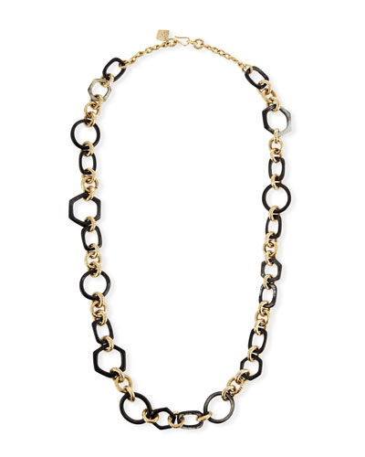 Shauri Dark Horn Link Necklace