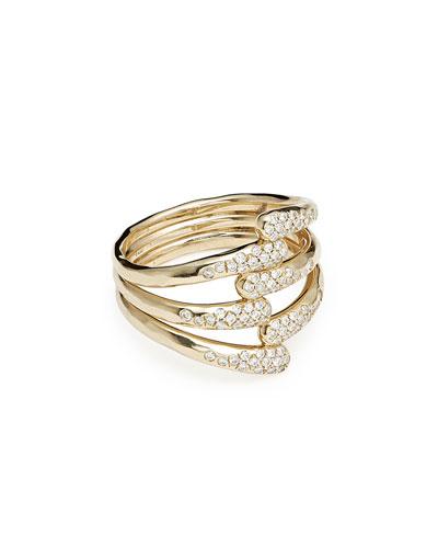 18k Stardust Diamond Overlap Ring