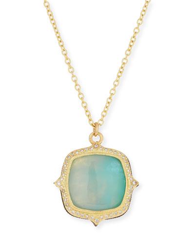 Old World 18k Aquaprase™ Pendant Necklace