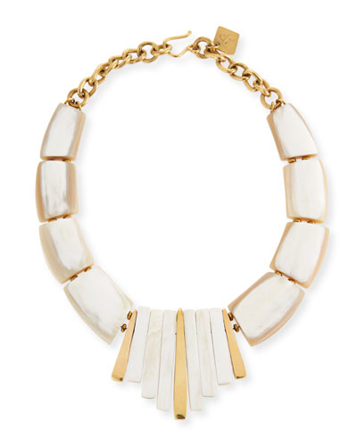Ashley Pittman Jamaa Light Horn Bib Necklace d1TTZVRrQk