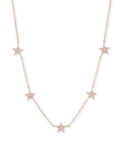 14k Mini Star Diamond Necklace