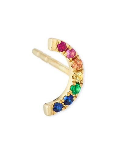 14k Rainbow Single Stud Earring
