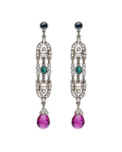 Ben-Amun Velvet Glamour Deco Drop Earrings