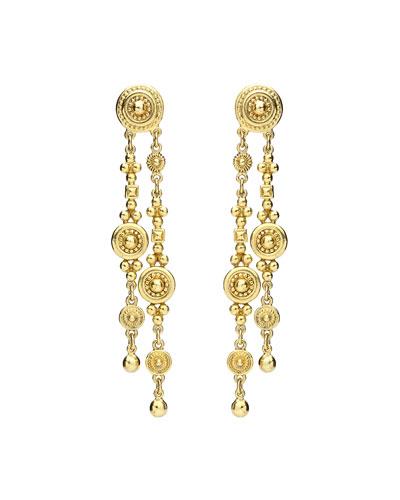 Textured Double Dangle Earrings
