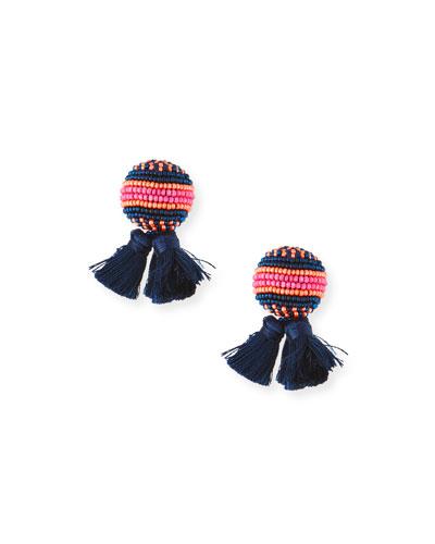 Sloane Stud Earrings w/ Tassels