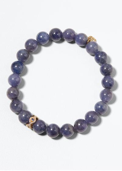 14k Round Tanzanite Bracelet w/ Eye Rondelle