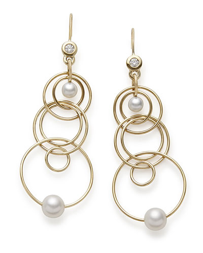 Ippolita 18k Gold Nova Mini Jet Set Pearl