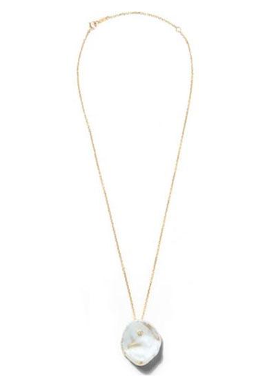 Mizuki 14k Single Petal Pearl Pendant Necklace