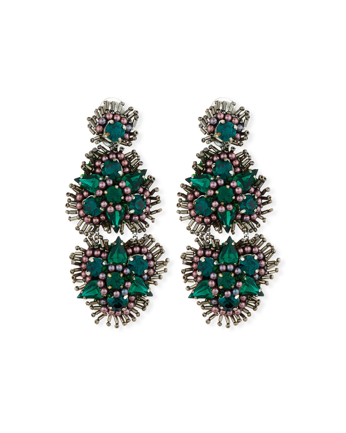 Mignonne Gavigan ANASTASIA CRYSTAL CLIP-ON EARRINGS