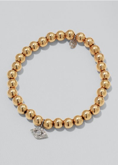 14k Two-Tone Gold & Diamond Eye Bracelet